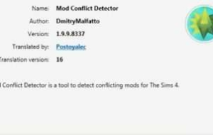 TS4 Package Conflict Detector 1.9.9.8337 | The Sims 4 моды