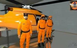 French helicopter pilot of civil security