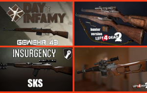 "Left 4 Dead 2 — новые модели оружия — M1 Garand, Gewehr 43, СКС, Ruger Mini-14, ВСС ""Винторез"", H&K HK 416"