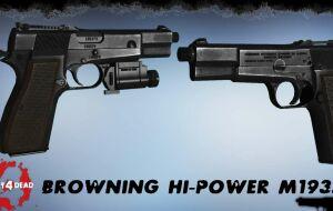 Left 4 Dead 2 — новая модель оружия — Browning Hi-Power M1935 | Left 4 Dead 2 моды