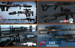 Left 4 Dead 2 — новые модели оружия — СВД, M-14 EBR, L1A1 SLR, СВУ, Walther WA 2000
