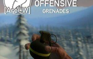 [ArcCW] Gunsmith Offensive Grenades | Garrys mod моды