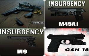 Left 4 Dead 2 — новые модели оружия — Kriss Sphinx SDP, Beretta m9, Colt m45a1, GSh-18, Glock 19, H&K USP.45 | Left 4 Dead 2 моды