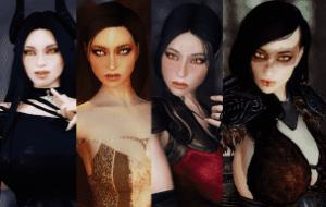 Skyrim — Демонические сестры (4 спутницы)   Skyrim моды