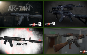 Left 4 Dead 2 — новые модели оружия — STG 44, АК-74М, АК-74, АКМ, АК-12, АК-104, АК-9