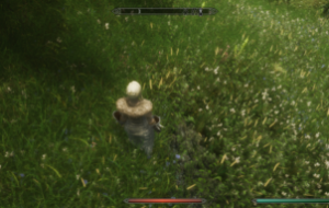 Трава с насыщенным зеленым цветом / Skyrim Grass by infinition (Test)   Skyrim моды