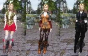 Skyrim — Одежда из Ведьмака 3 (Трисс,Шани,Йеннифэр) UNP-HDT | Skyrim моды