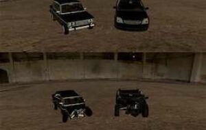 [DK] VAZ2106 and Opel Vectra — Deformable!