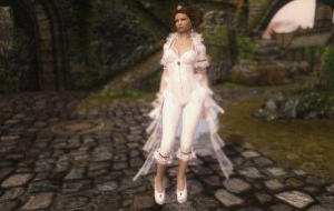 Skyrim — Одежда Белой Королевы UNP-HDT | Skyrim моды