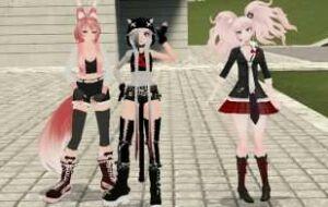 Anime — 3 Аниме-тянки (PlayerModels)