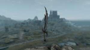 Skyrim - ретекстур Даэдра меча (Daedric Sword)