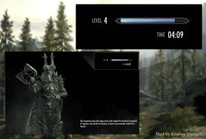 Skyrim - показ времени в игре