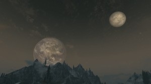 Skyrim - земля на небе...