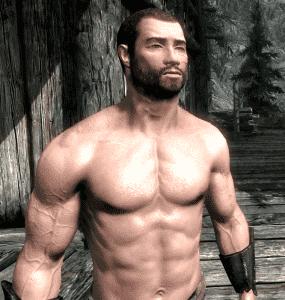 Skyrim - убираем волосы на теле мужчины