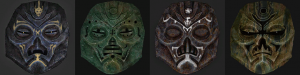 Skyrim - новые текстуры для масок