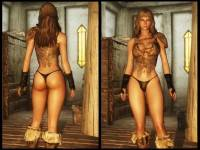 Skyrim — Новые модели оригинальной женской брони (CBBE+UNP) | Skyrim моды