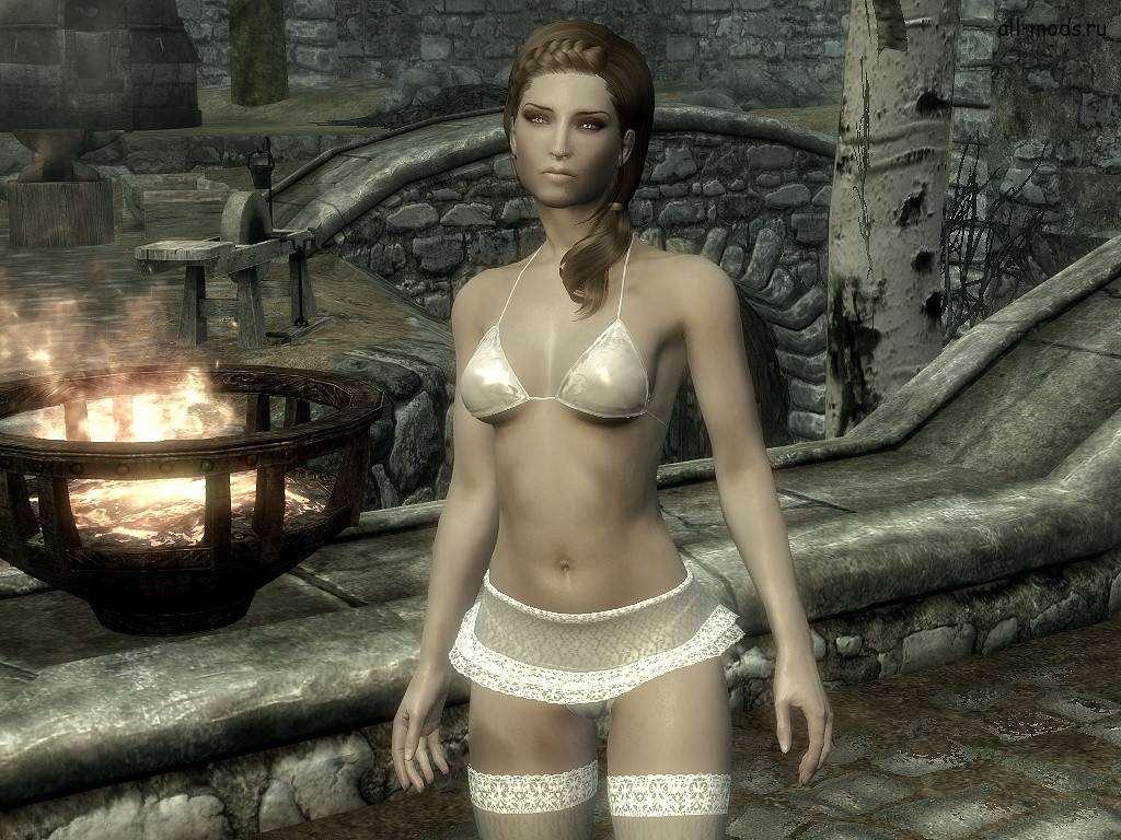 Эротическая одежда в skyrim