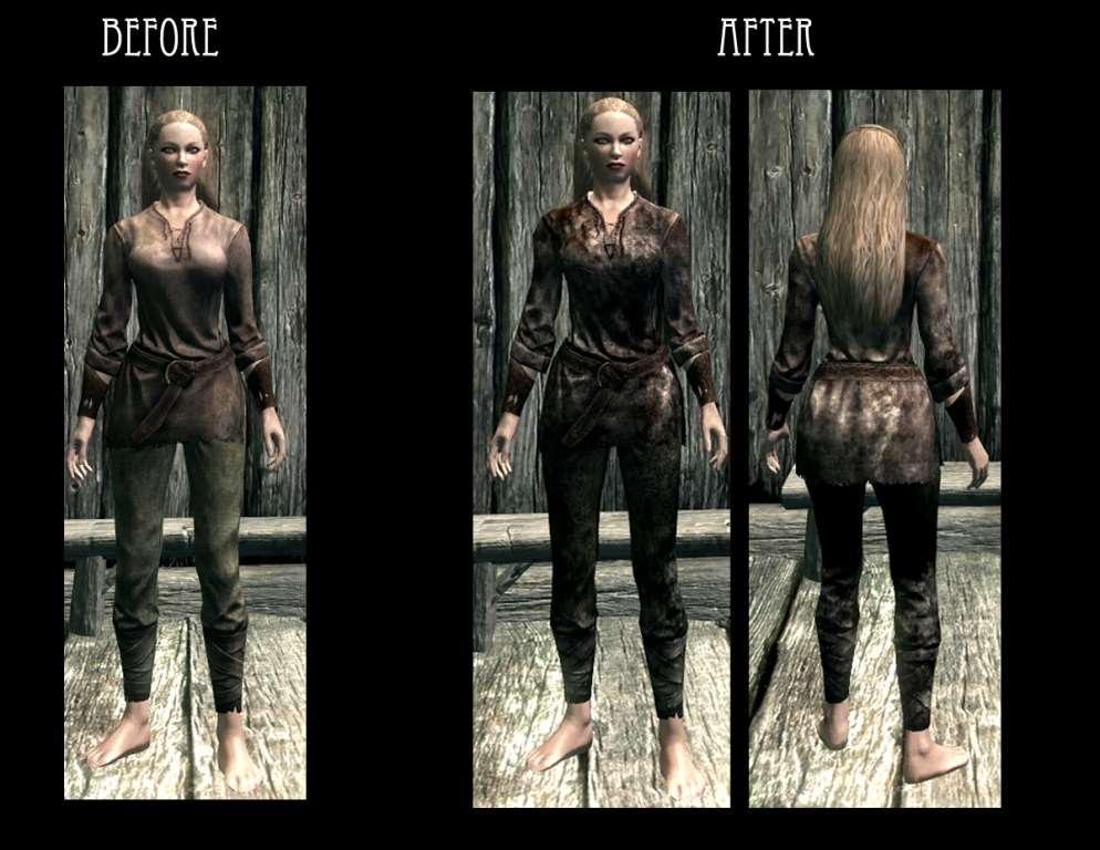 RUSTIC CLOTHING at Skyrim Nexus - mods and community