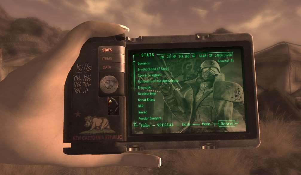 Fallout New Vegas Pip Boy – Geekpixie