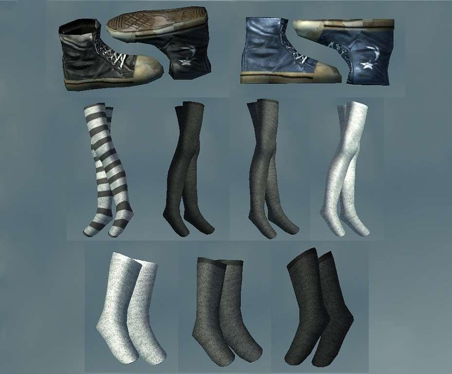 Skyrim носки гольфы и обувь для девушек Unp новая броня и