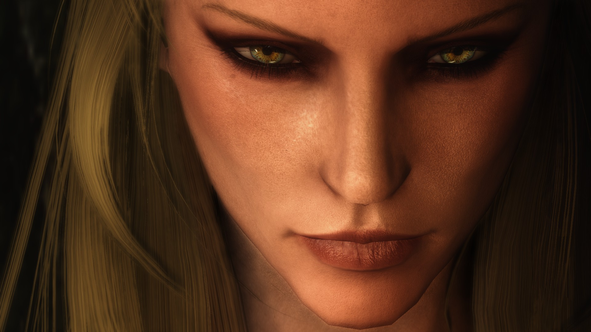 High Res Female Face Makeup For Skse