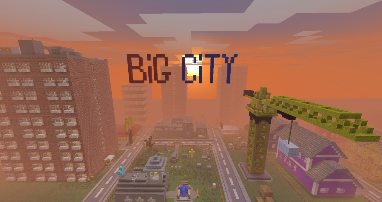 карта для майнкрафт 1.7.2 большлй город #5