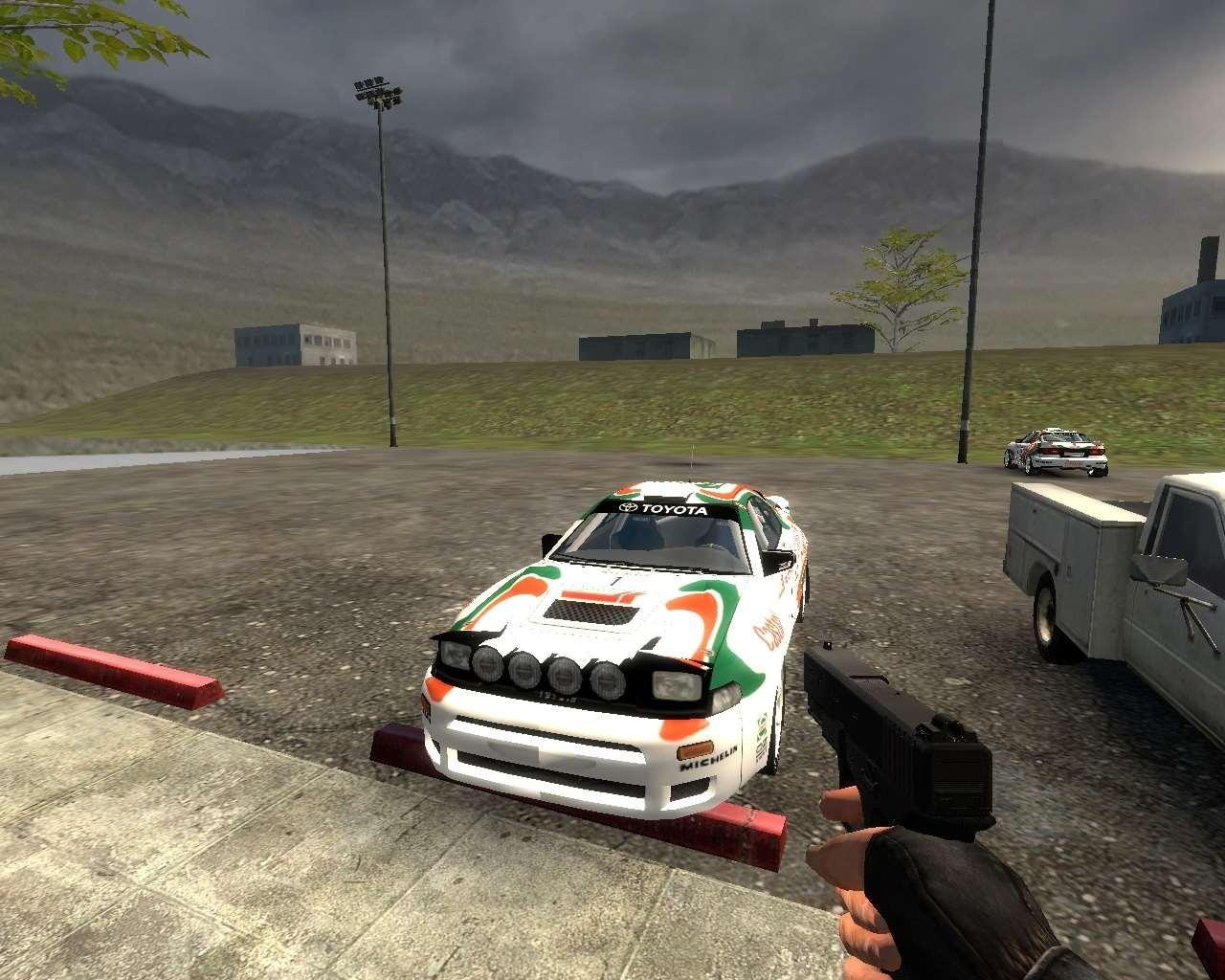 Counter Strike:Source - Раллийные машины на карте de_nuke