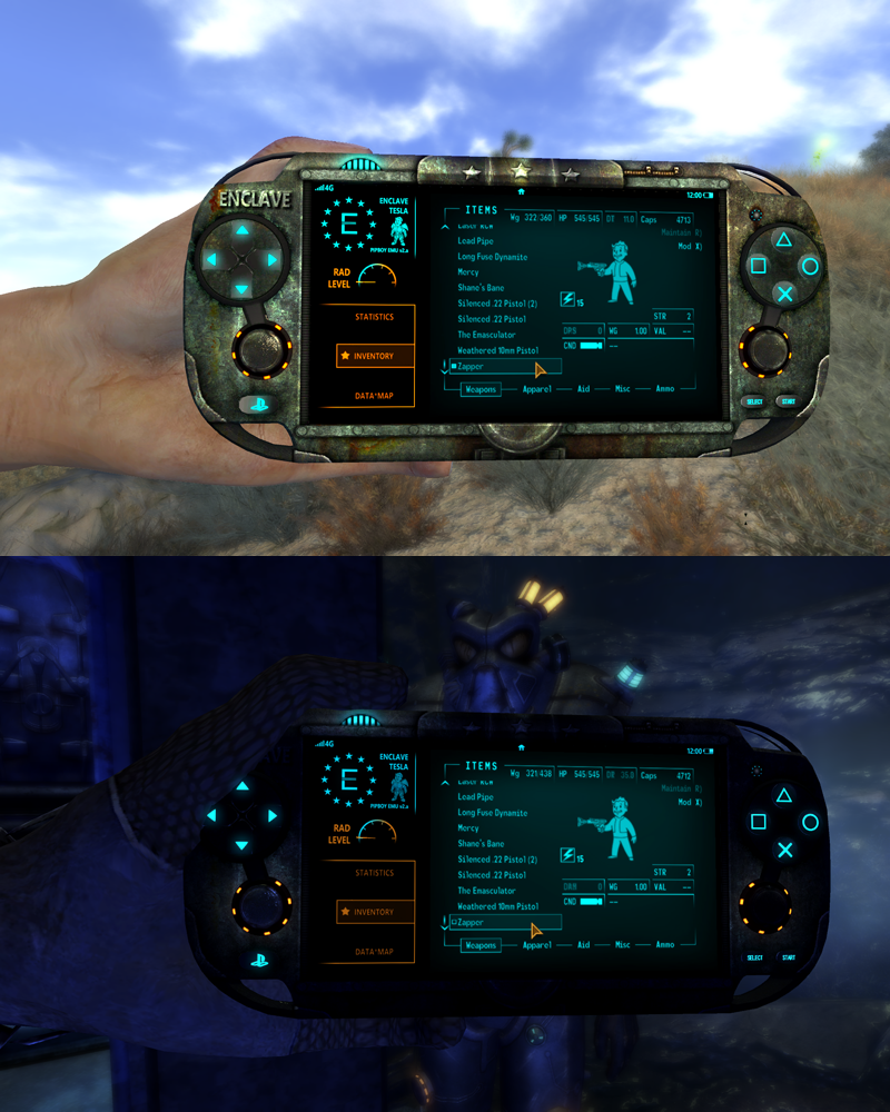 fallout 3 how to turn on pip boy light