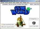 Cube World Launcher PLUS