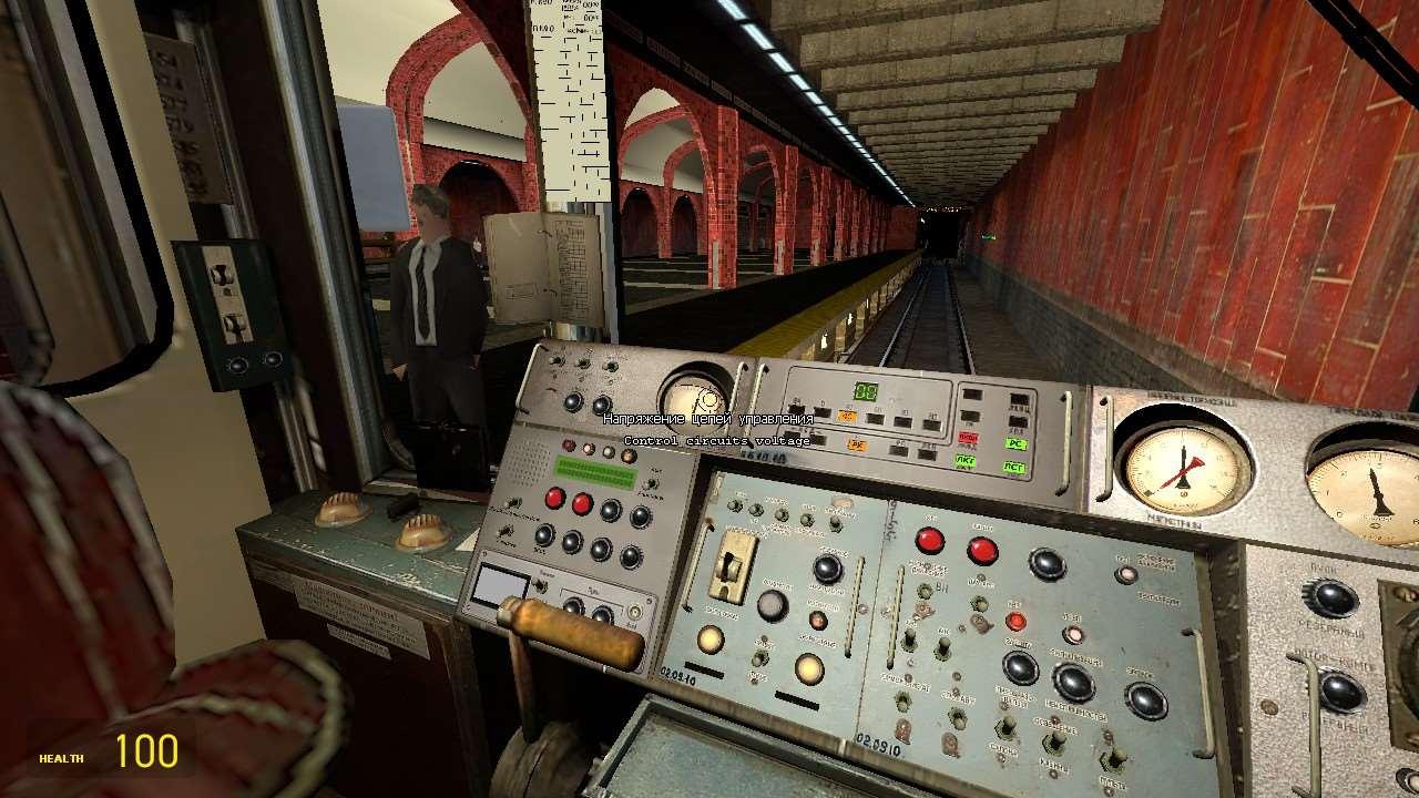 Симулятор метро в garry's mod, поездка от станции аэропорт до.