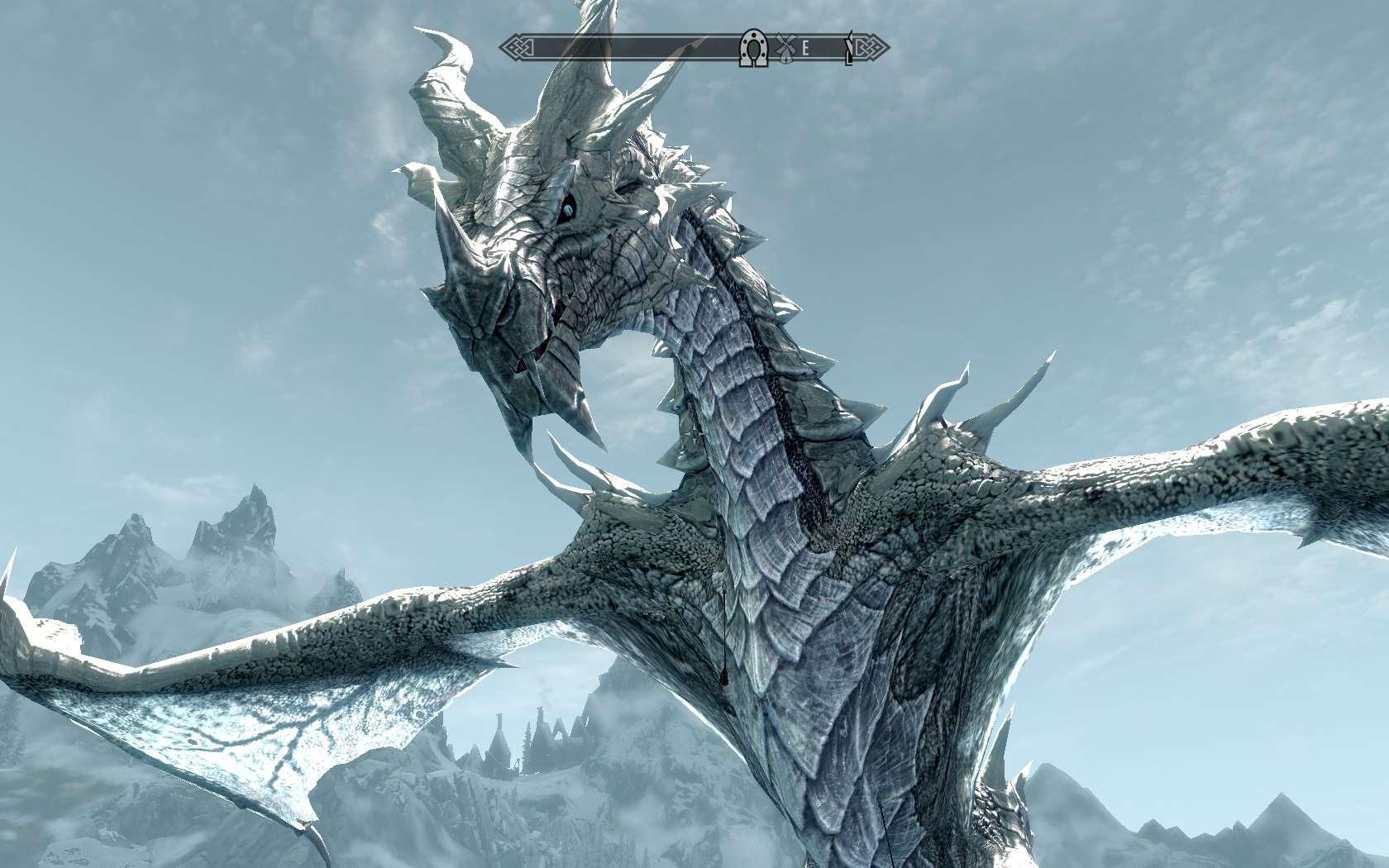 дракон скайрима картинки шляпу