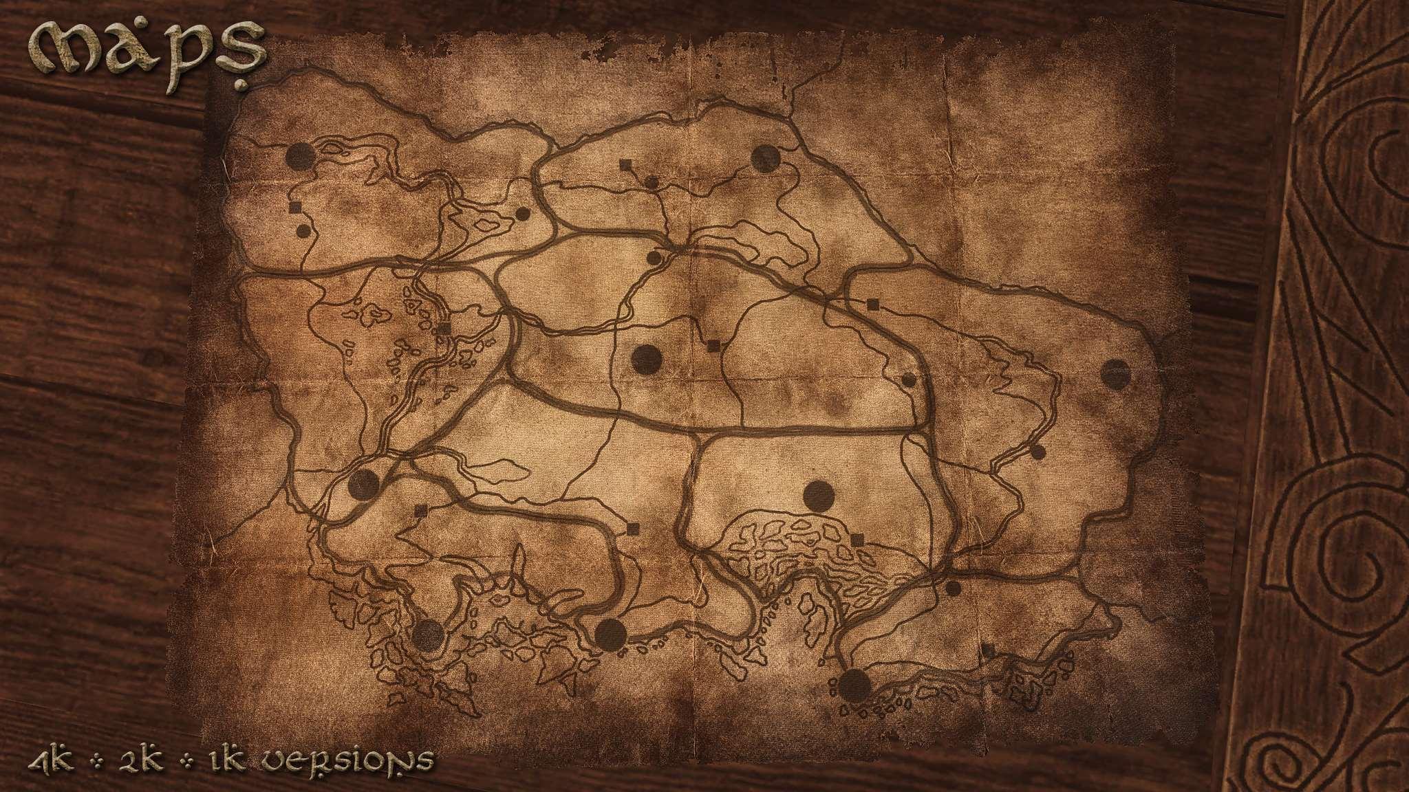 Картинка карты скайрима
