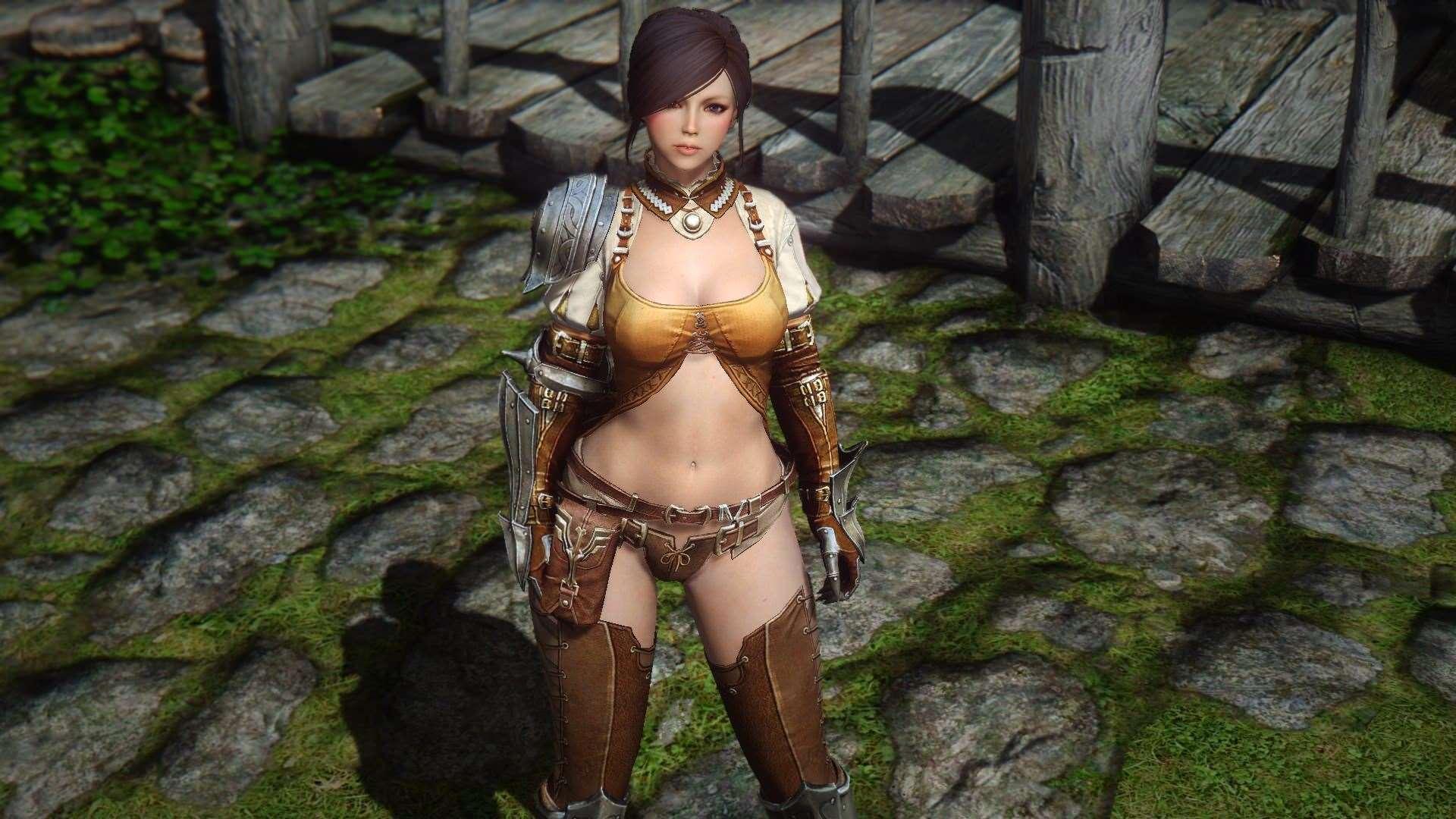 Skyrim - Броня для девушек из MMO Bless - Новая броня и