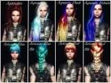 Skyrim - Многоцветные текстуры волос для KS Hairdos