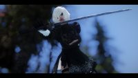 Skyrim - Спутница 2B из игры NieR: Automata