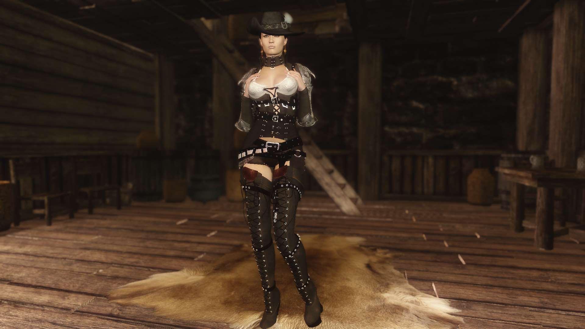 Скайрим мод женская броня и одежда unp