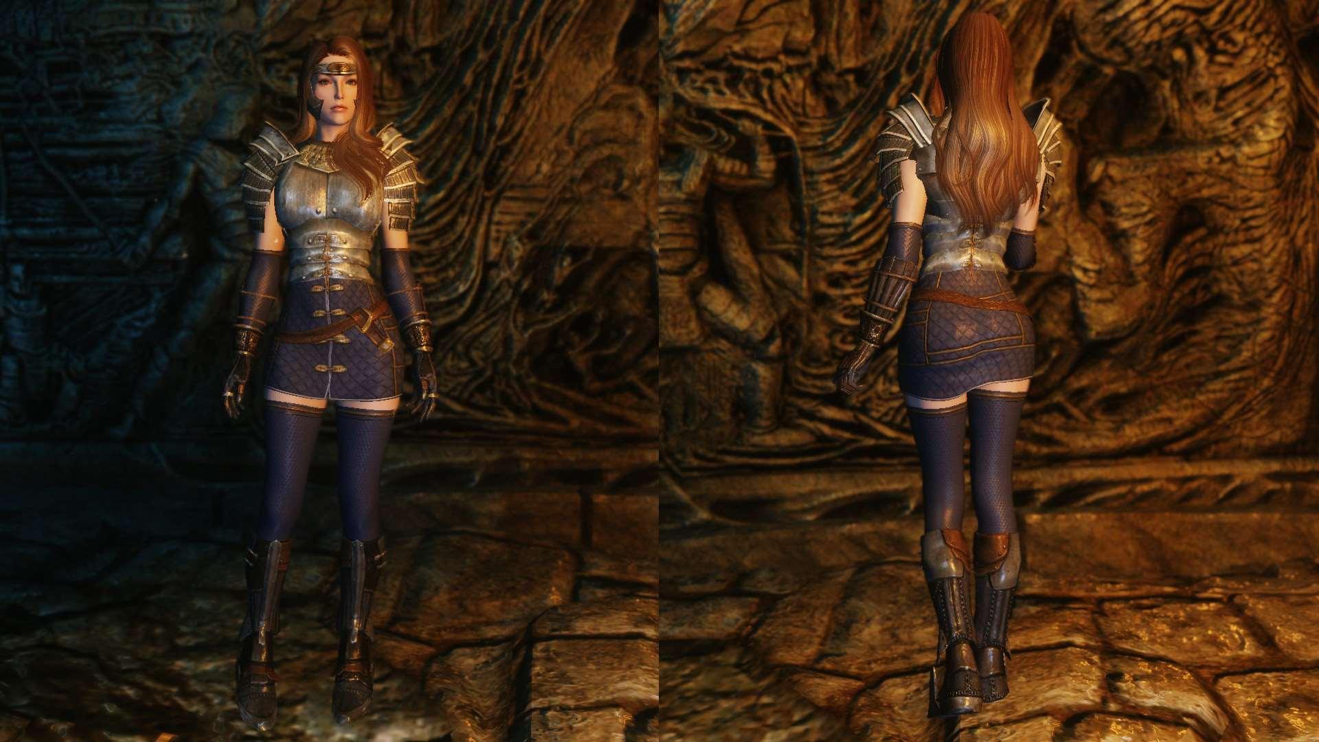 Skyrim — Реплейсер тяжелой брони для девушек (UNP / CBBE