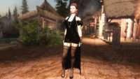 Skyrim - Черное вечернее платье UNP-HDT (Physics)
