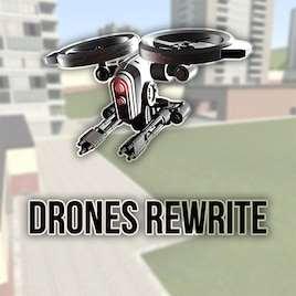 Garrys Mod — Настоящие летающие Дроны! Drones Rewrite | Garrys mod моды