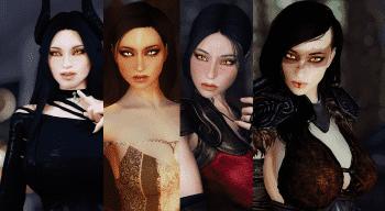 Skyrim — Демонические сестры (4 спутницы) | Skyrim моды