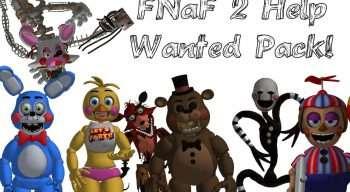 Garrys Mod — Ragdolls Аниматроников FNAF 2 с игры FNAF: Help Wanted