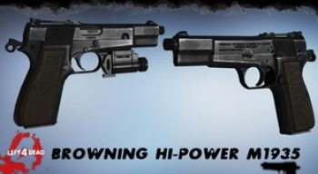 Left 4 Dead 2 — новое оружие — Browning Hi-Power M1935 | Left 4 Dead 2 моды