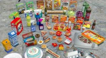 Еда и столовые приборы!