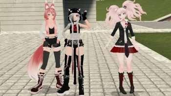 Anime — 3 Аниме-тянки (PlayerModels) | Garrys mod моды