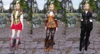 Skyrim — Одежда из Ведьмака 3 (Трисс,Шани,Йеннифэр) UNP-HDT