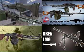 Left 4 Dead 2 — новые модели оружия — M-60, ПКМ, РПД, Bren Mk1, M249 SAW, XM214-A-Minigun