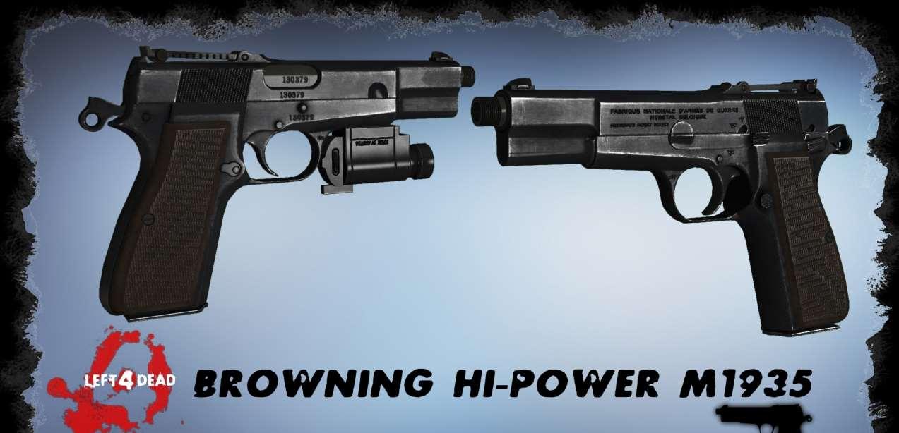 Left 4 Dead 2 — новая модель оружия — Browning Hi-Power M1935