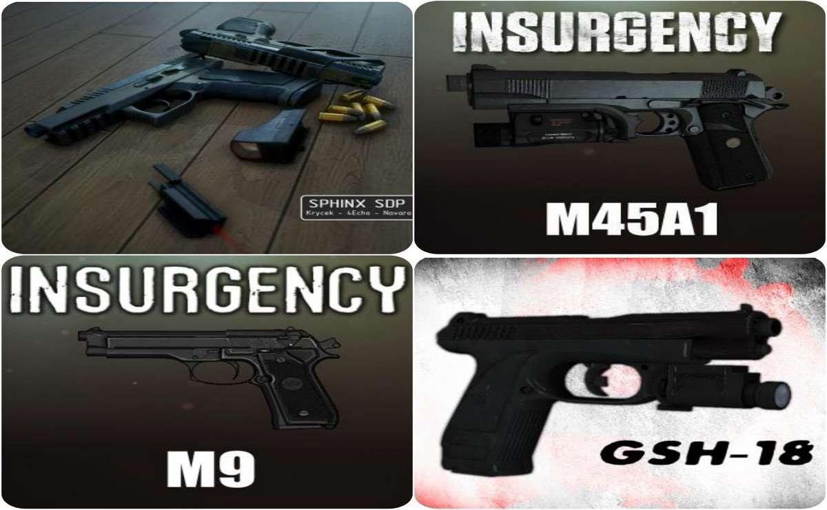 Left 4 Dead 2 — новые модели оружия — Kriss Sphinx SDP, Beretta m9, Colt m45a1, GSh-18, Glock 19, H&K USP.45