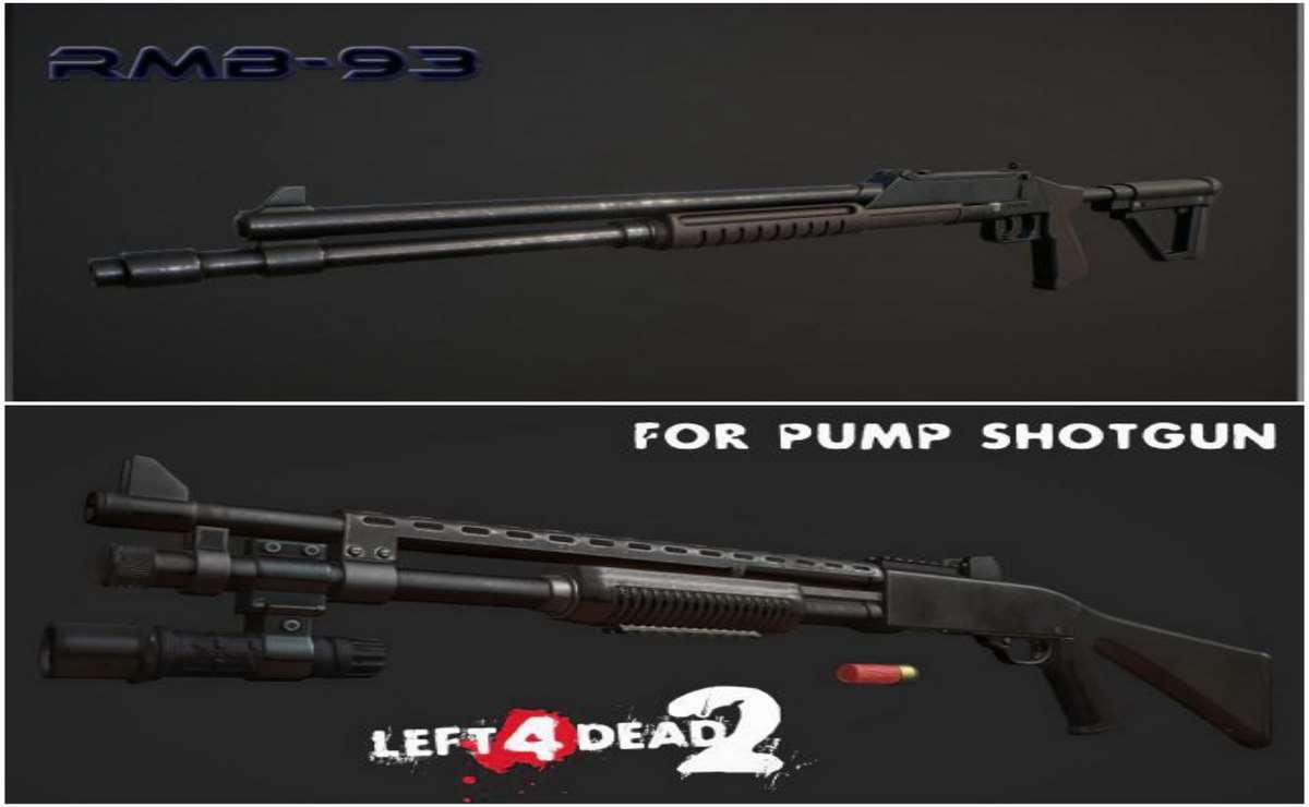 Left 4 Dead 2 — новые модели оружия – РМБ-93, Winchester 1200 (помповые дробовики) | Left 4 Dead 2 моды
