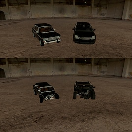 [DK] VAZ2106 and Opel Vectra — Deformable!   Garrys mod моды